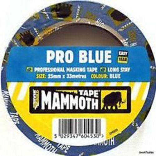 Everbuild EVB2PRO25 25 mm x 33 m Pro Blue Masking Tape Pack of 2